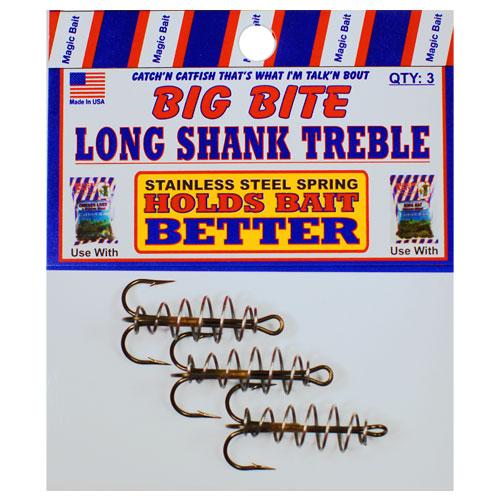Long Shank Treble Springs Hooks